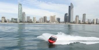 Gold Coast Ocean Jet Boat Ride + Helicopter Flight Thumbnail 1
