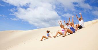 Quad Bike Aboriginal Culture and Sand Boarding Tour Thumbnail 1