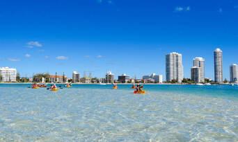 Gold Coast Kayaking and Snorkelling Tour to Wavebreak Island Thumbnail 4