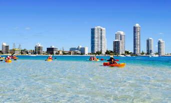 Gold Coast Kayaking and Snorkelling Tour to Wavebreak Island Thumbnail 1