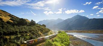 TranzAlpine Rail Journey between Christchurch and Greymouth Thumbnail 1