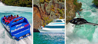 Taupo Cruise Helicopter and Jet Boating Combo Thumbnail 1